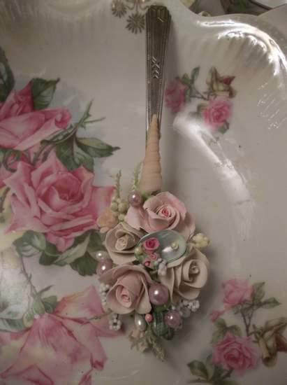 (Shellie) Vintage Teaspoon Decoration