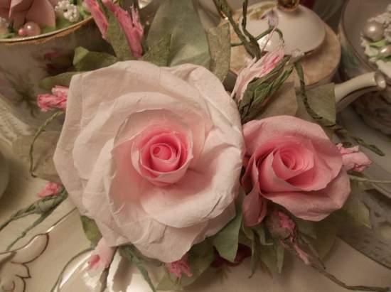 (Millie Mae) Handmade Paper Rose Clip