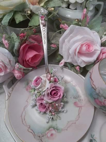 (Hi Ho Silver) Vintage Decorated Tablespoon