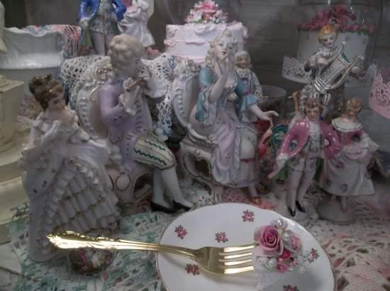 (Joanie) Decorated Fork, Bite Of Fake Cake