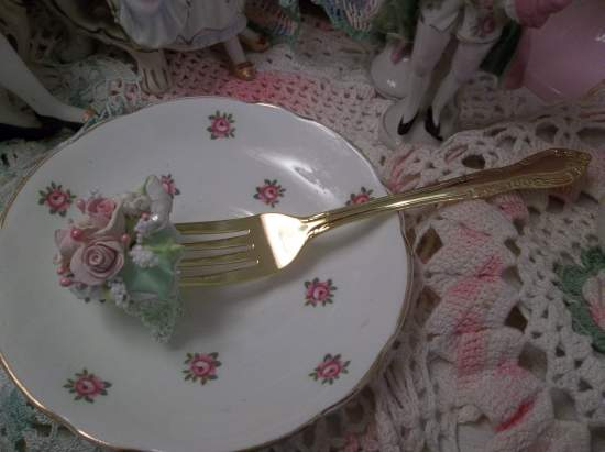 (Matilda) Decorated Fork, Bite Of Fake Cake