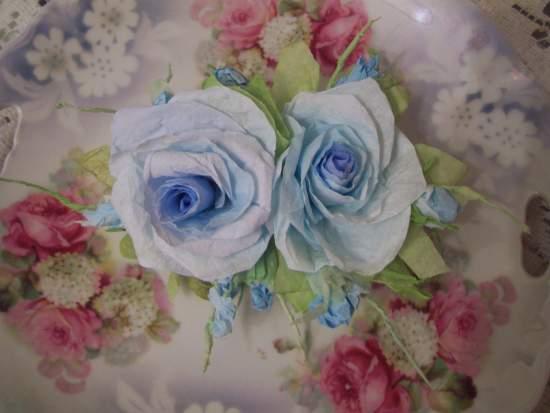 (Lady Daphney Rose)  Paper Rose Clip Lamp Decor