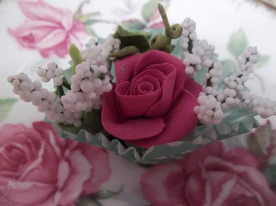 (Dottie) Clay Rose Handmade  Cottage Decor