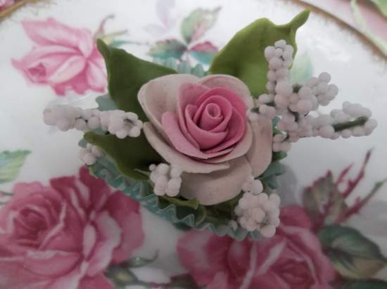 (Emma) Handmade Clay Rose Decor