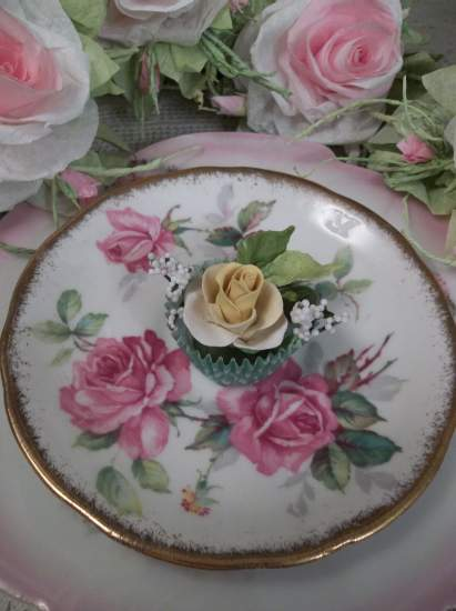 (Francine) Handmade Clay Rose Decor