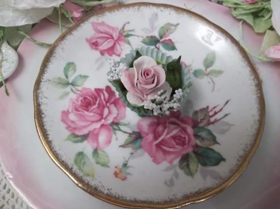 (Helga) Handmade Clay Rose Decor