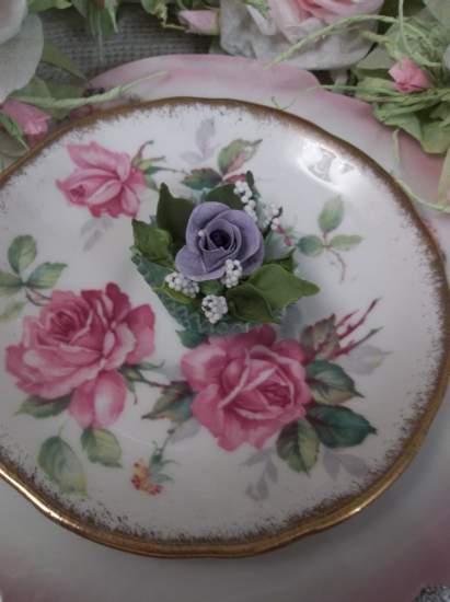 (Jaqui) Handmade Clay Rose Decor