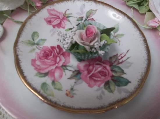 (Kay) Handmade Clay Rose Decor