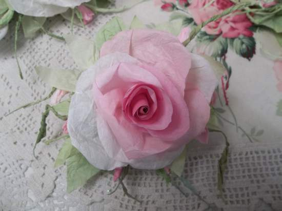 (Andria Marie)  Handmade Paper Rose Clip