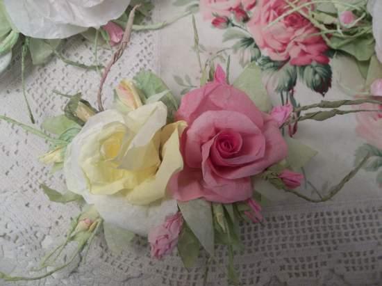 (Tiffany Dawn)  Handmade Paper Rose Clip
