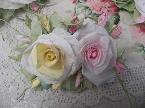 (Mollie May Belle)  Handmade Paper Rose Clip