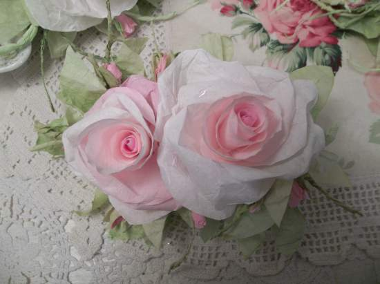 (Brittany Marie)  Handmade Paper Rose Clip