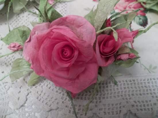 (Kimberlee)  Handmade Paper Rose Clip