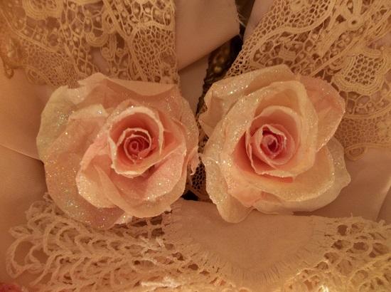 (Hilda) Glittered Handmade Paper Rose
