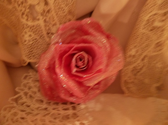 (Queen) Glittered Handmade Paper Rose