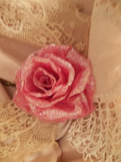 (Teri) Glittered Handmade Paper Rose