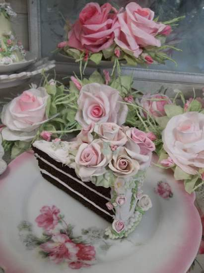 (Softly Shaded Elegance) Fake Cake Slice
