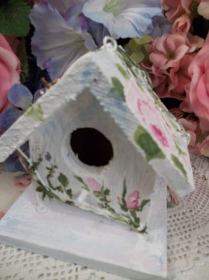 (Twig) Handpainted Bird House