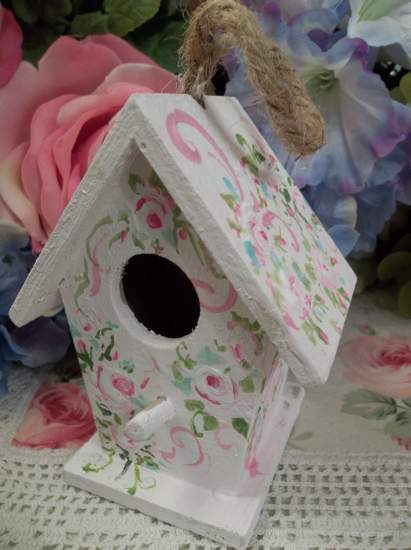 (Feathered Friend) Handpainted Bird House