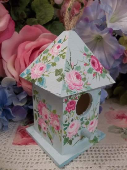 (Swallow) Handpainted Bird House