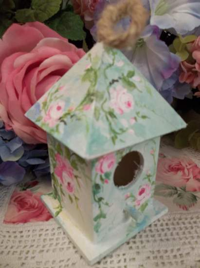 (Shayla) Handpainted Bird House