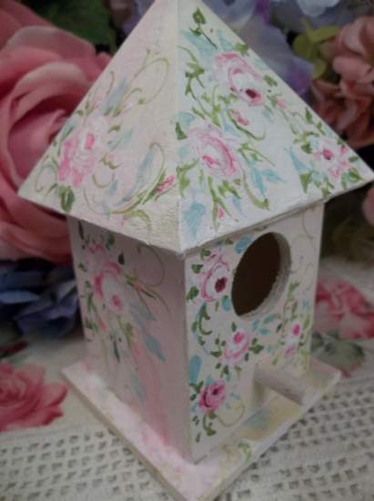 (Sheana) Handpainted Bird House