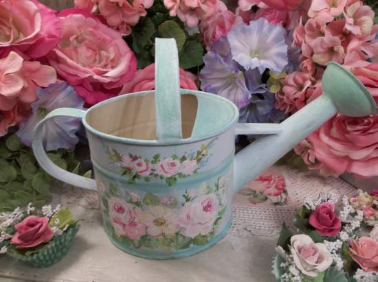 (Pretty Sweet) Handpainted Watering Can