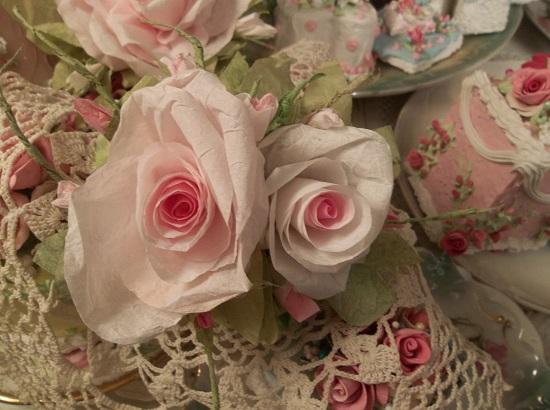 (Tildie Jo) Handmade Paper Rose Clip