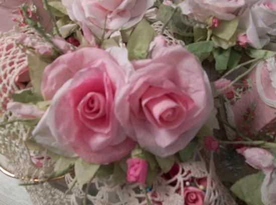 (Frannie Anne) Handmade Paper Rose Clip
