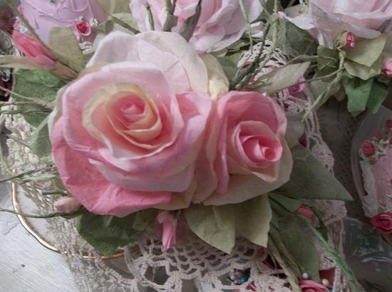 (Mayla Kay) Handmade Paper Rose Clip