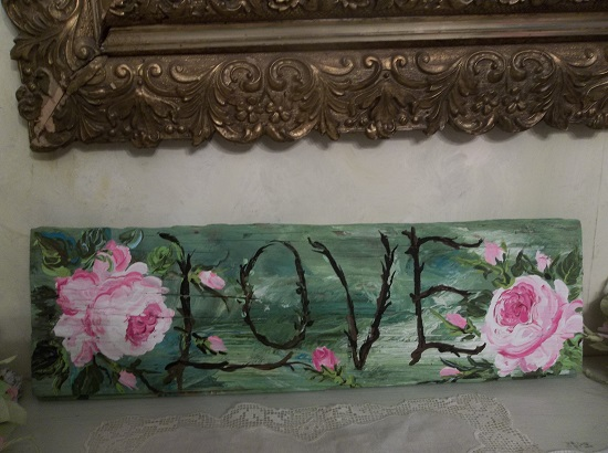 (*Love*) Handpainted Sign