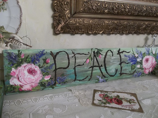 (**Peace**) Handpainted Sign