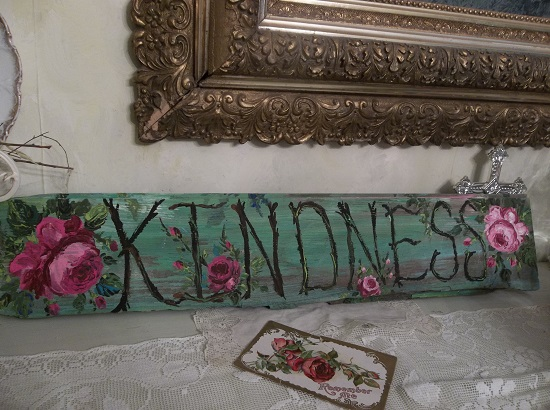 (*Kindness*) Handpainted Sign