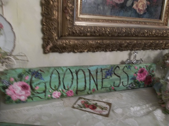 (*Goodness*) Handpainted Sign
