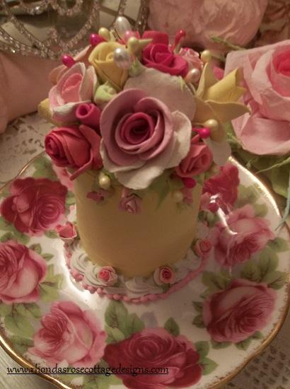 (Lemon Cheri) Funky Junk Fake Cake
