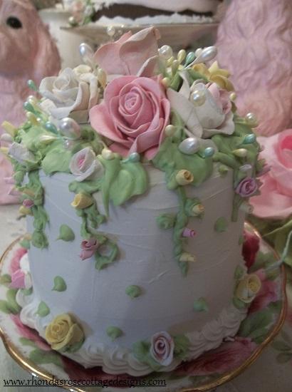 (Mariposa Rosa) Funky Junk Fake Cake
