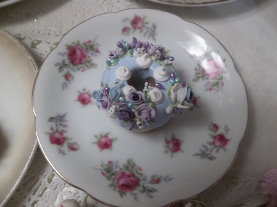 (Lavender Sky) Decorated Mini Donut
