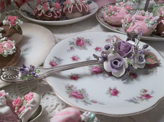 (Violet And Butterfly) Vintage Teaspoon Decoration