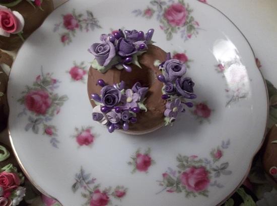 (Violet Viola) Decorated Mini Donut