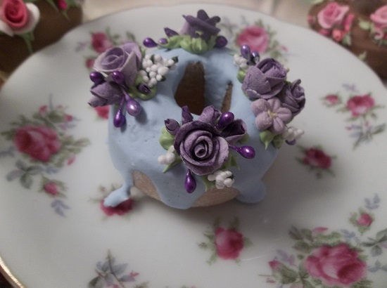 (Awesome Violet Victory) Decorated Mini Donut