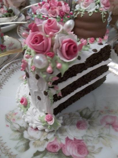 (Zoie) Fake Cake Slice, Slice Slants A Bit.