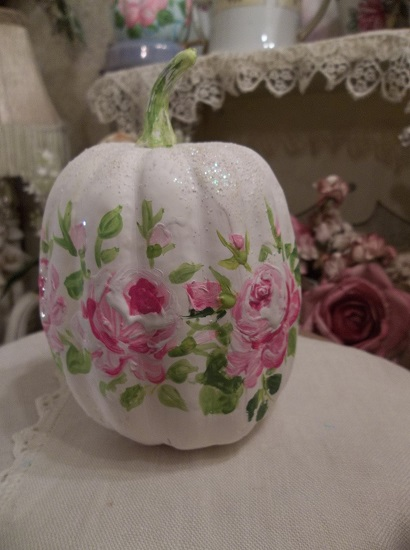 (Bella Dawna) Handpainted Fake Pumpkin