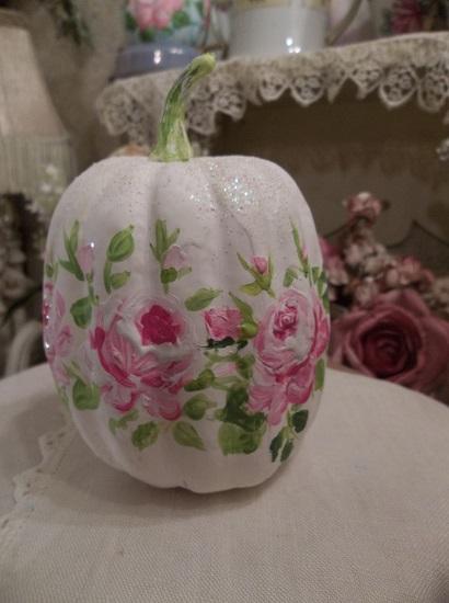 (Bella Dawna) Handpainted Fake Pumpkin