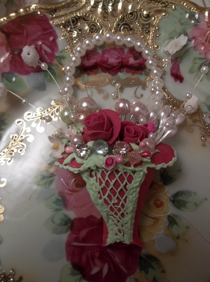 (Sister Cinderella) Handmade Clay Corset Decoration