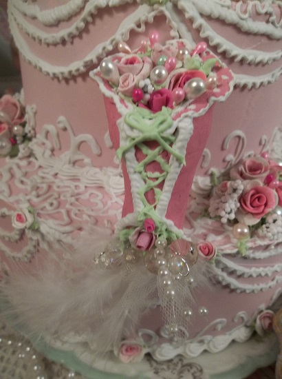 (Beautiful Bella) Handmade Clay Corset Decoration
