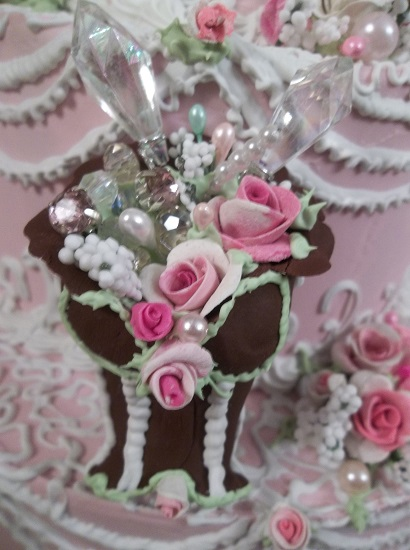 (Bunny) Handmade Clay Corset Decoration