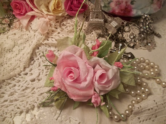 (Friendship) Handmade Paper Rose Clip