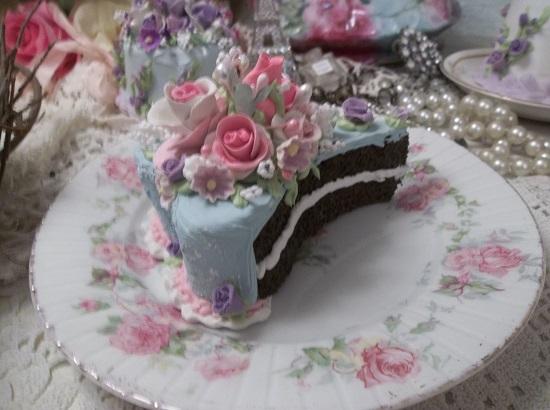 (Slice Of Love) Heart Shaped Fake Cake Slice