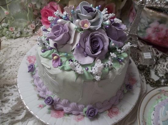 (Blue Green Violet) Funky Junk Fake Cake