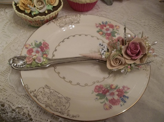 (Shellie Rose) Decorated Soup Spoon